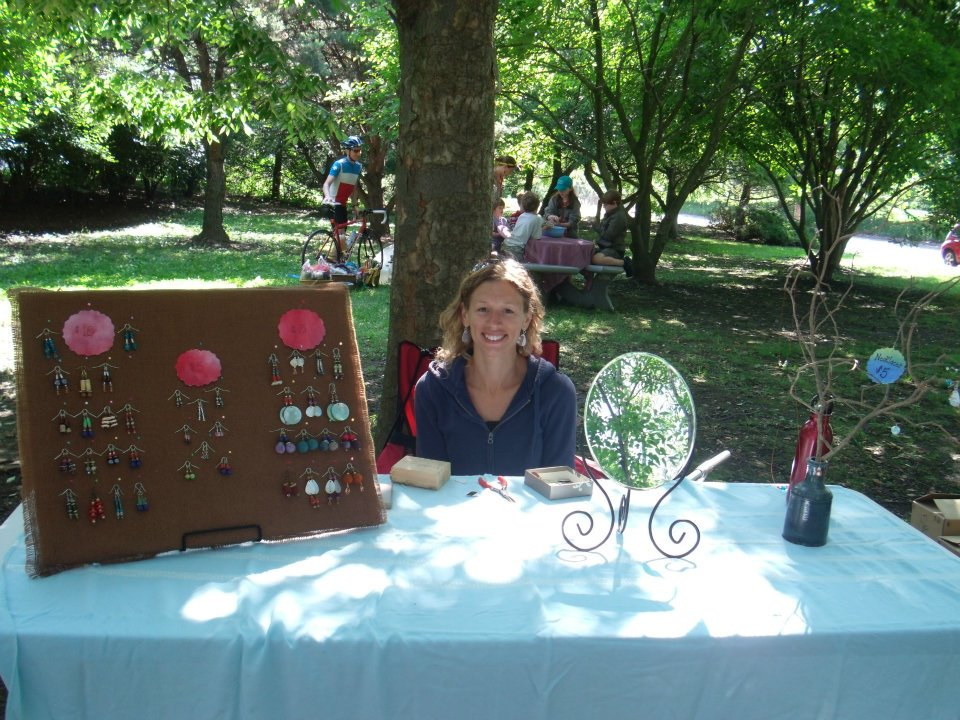 Holly Willing sells her jewelry at Marietta Market.